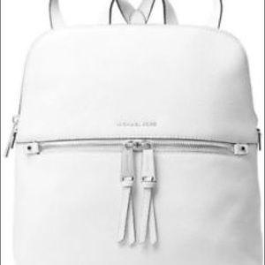Michael Kors Rhea medium backpack white leather
